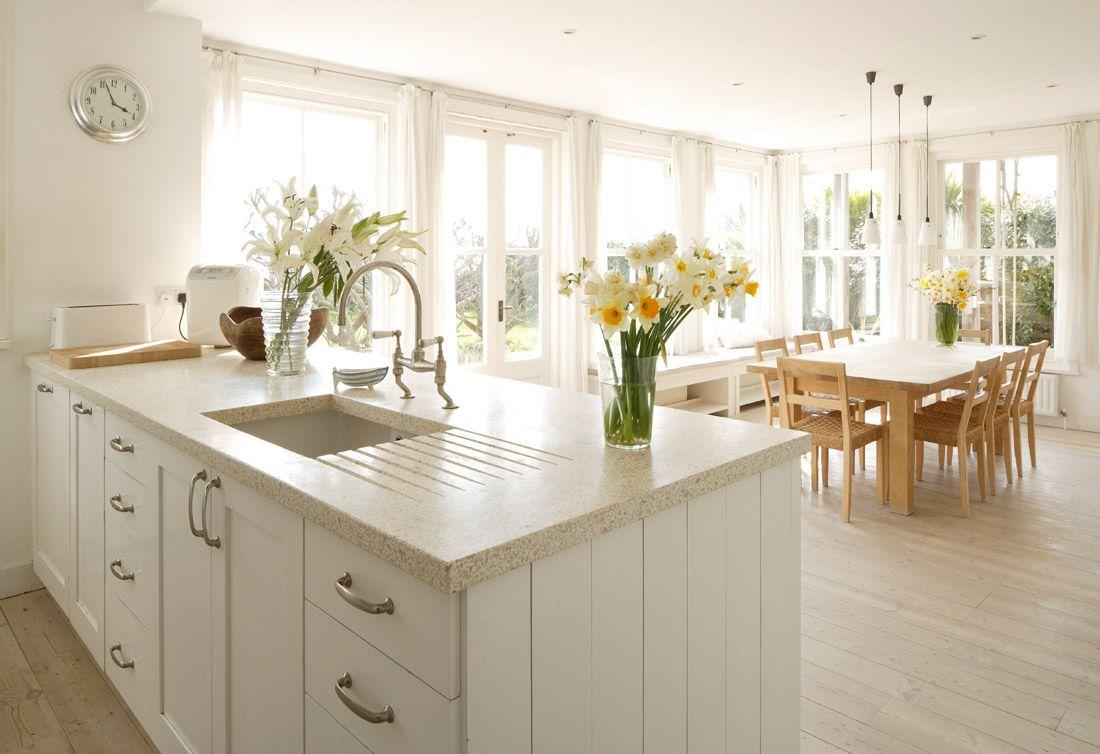 Kitchen sink in island bench, love! | heart place | Pinterest ...