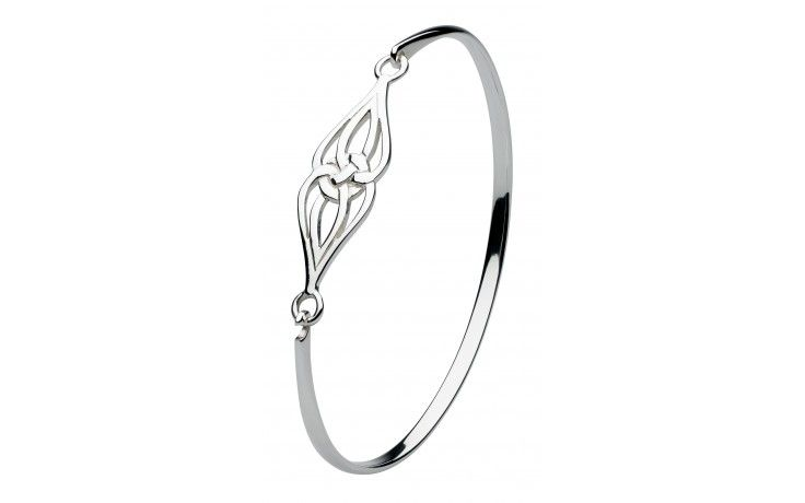 Heritage Women's Sterling Silver Celtic Double Trinity Knot Bangle a6S07pHUz
