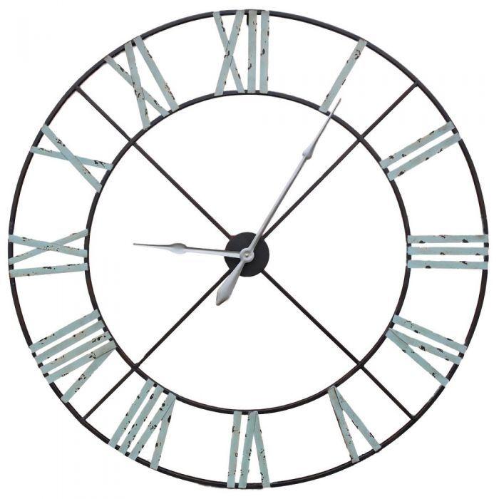 Extra Large 110cm Vintage Metal Wall Clock Garden Furniture Bedroom