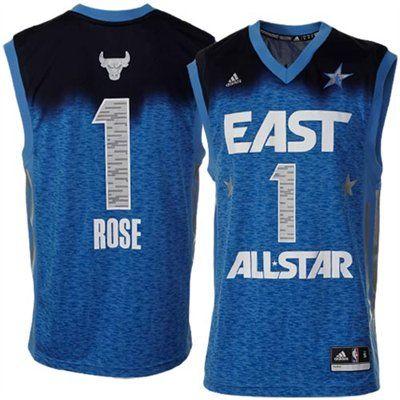 free shipping 908b4 eb4c8 adidas Derrick Rose 2012 East All Star Chicago Bulls #1 ...