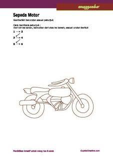 Cara Menggambar Sepeda : menggambar, sepeda, Kerajinan, Menggambar, Sepeda, Motor, Motor,, Website