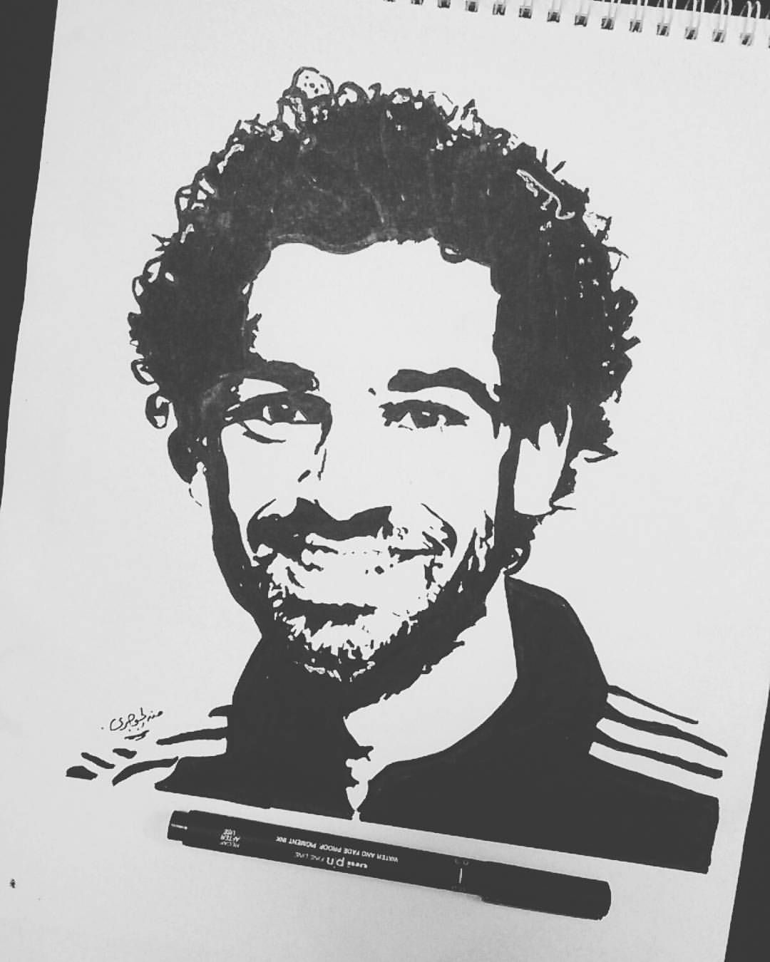 Sports drawings fifa football football players mohamed salah liverpool fc drawing