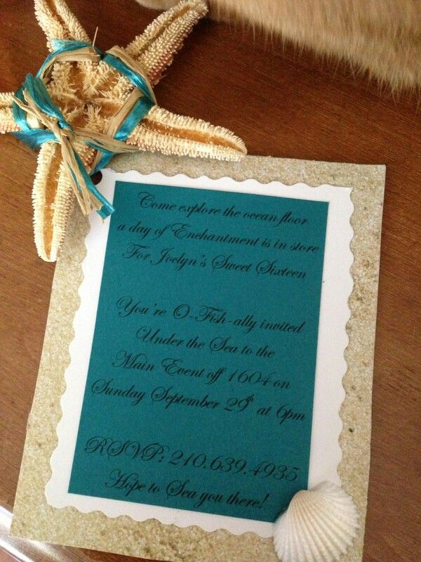 Mermaid Invitations For A Sweet 16 D My Stuff Pinterest