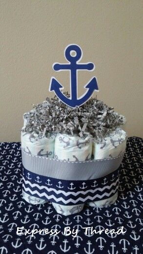 mini nautical diaper cakes centerpieces sailboat mini diaper cakes rh pinterest com