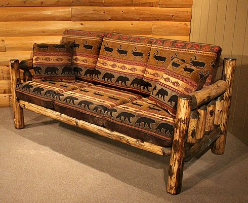 Buck Ridge Rustic Grizzly Sofa Living Room Pinterest Loveseats Logs And Sofa Set