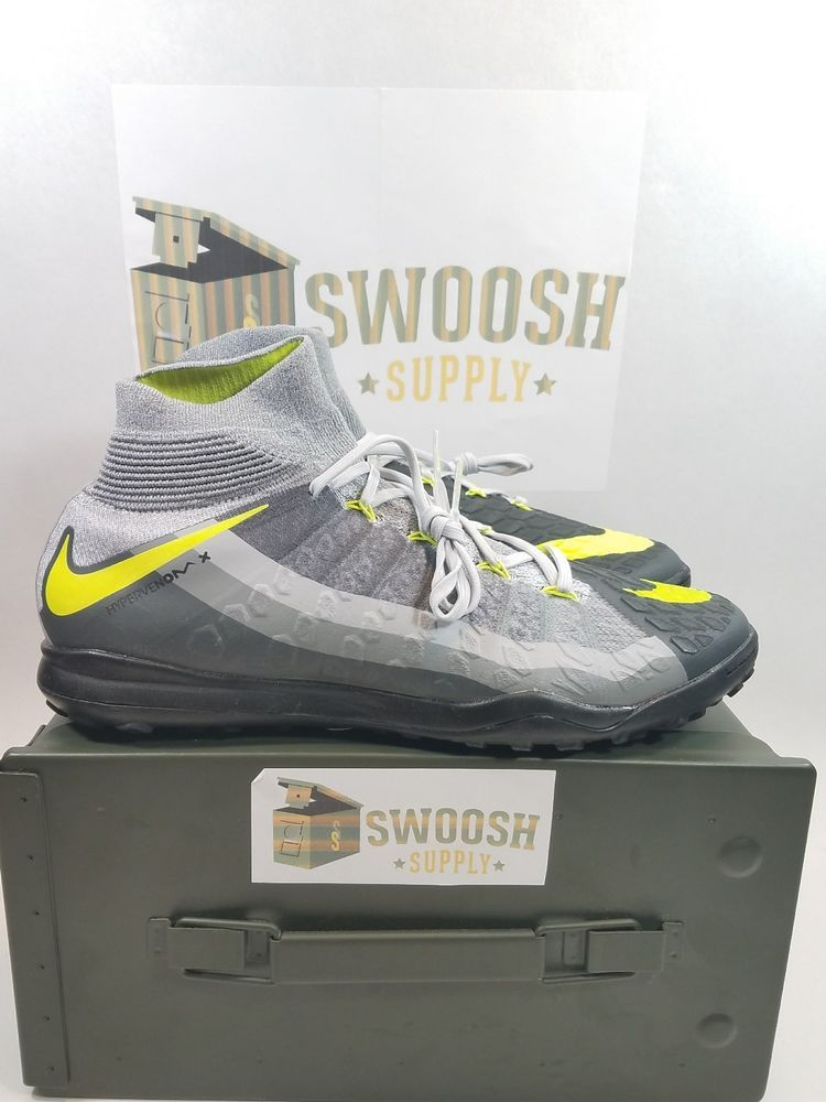 outlet store bb630 44260 Nike HypervenomX Proximo DF TF NEON AIR MAX 95 VOLT GREY 852576-071 sz 7.5  Cleat  Nike  Cleats
