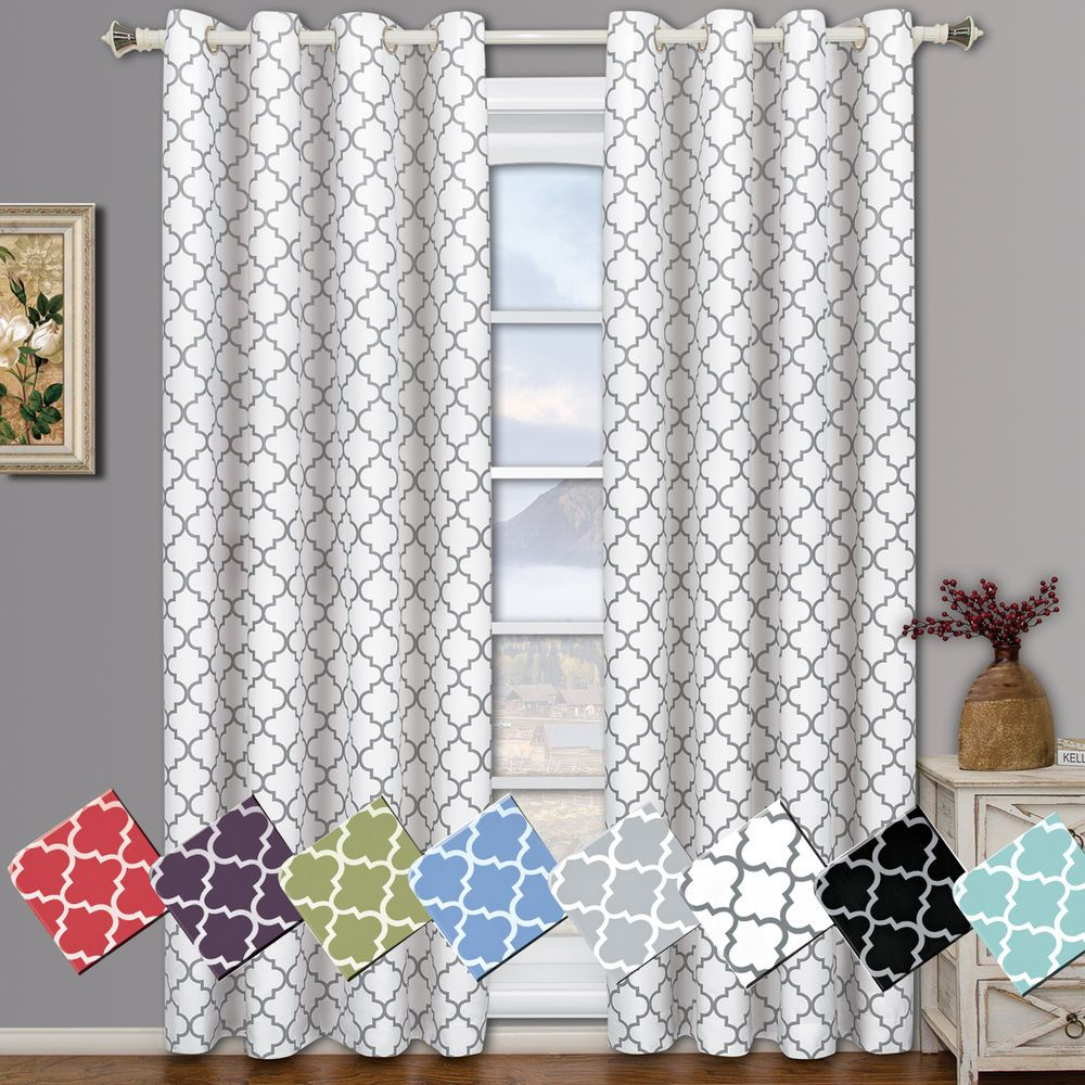 Meridian Room Darkening Grommet Top Window Curtain Ds Thermal Insulated Pair