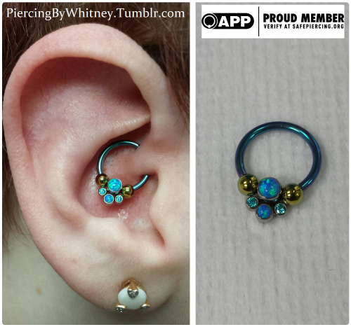 4529977e5 Daith piercing by Whitney Thompson of Tattoo Charlie's. Jewelry by  Anatometal.