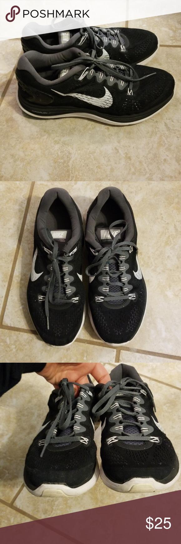 43658882a8228 Nike Lunarglide 5 Womens size 9.5 black nike lunarglide 5. Shows wear