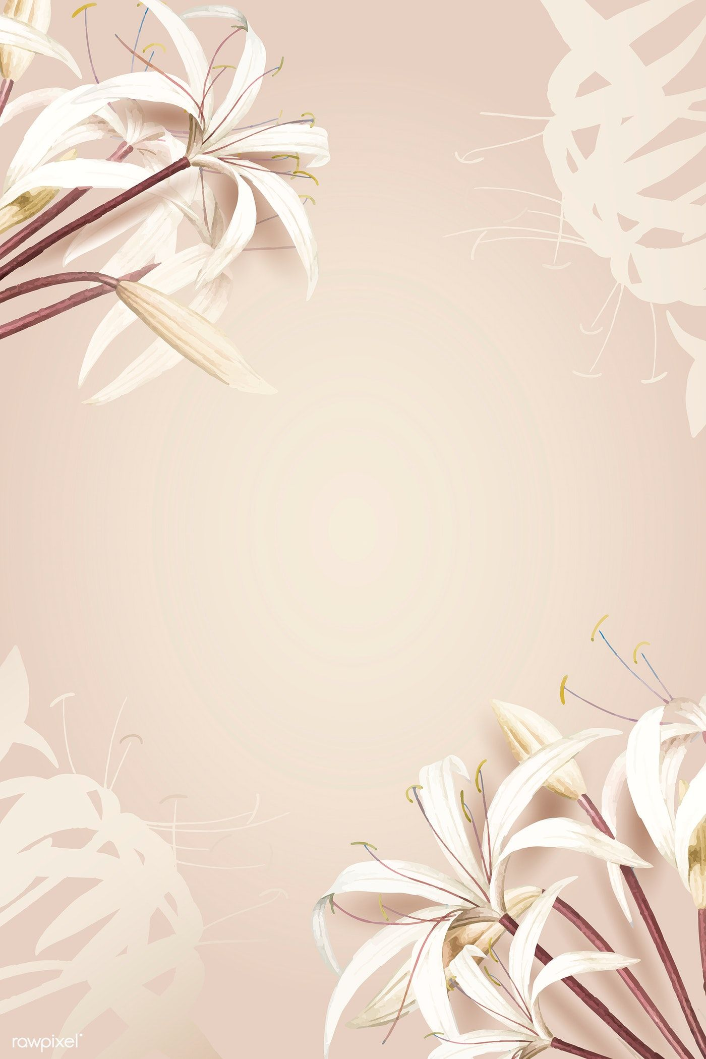 Download premium vector of White spider lily pattern