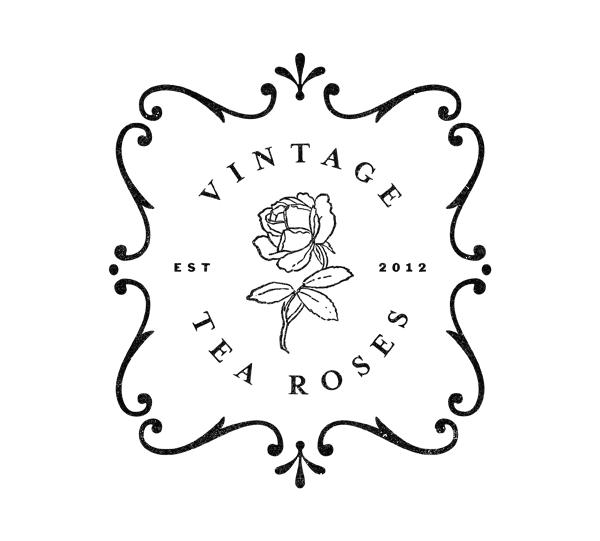 Vintage Tea Roses - Logo by Nathaniel Winter-Hébert, via Behance