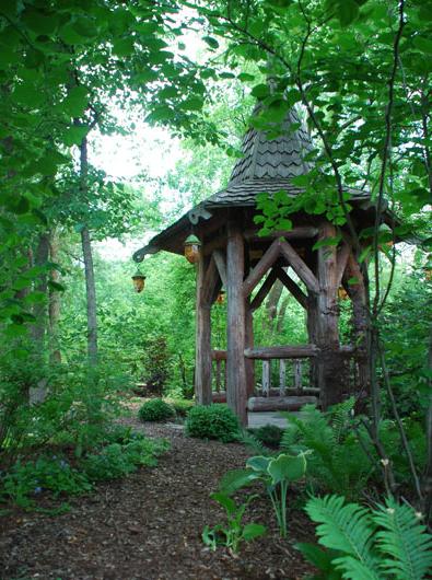 images about log gazebo on, celtic garden decor, celtic outdoor decor