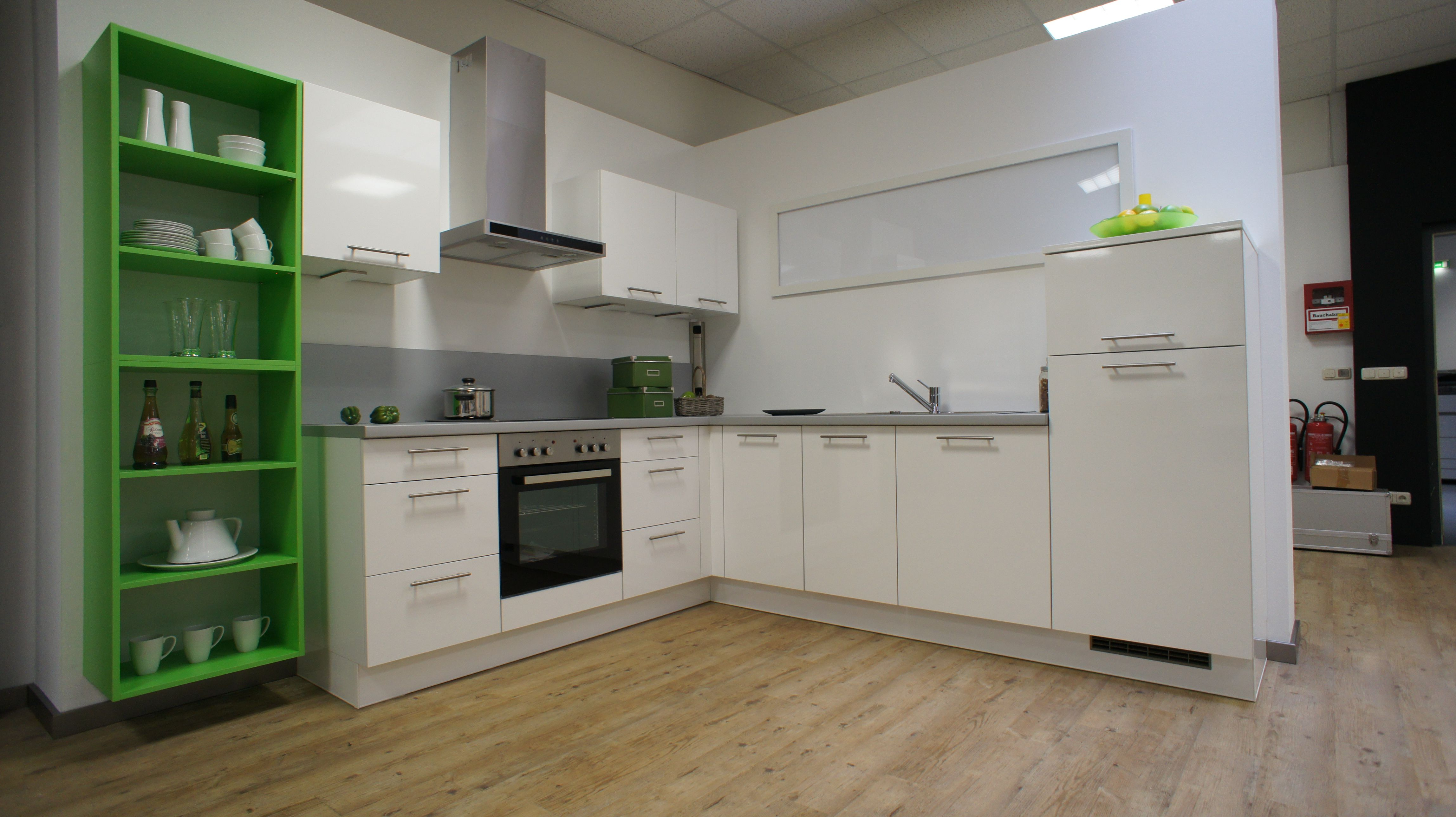 white and green kitchen by Burger Bauformat German kitchens, bright ...