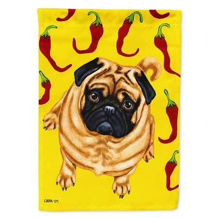 Pick A Pepper Pug Flag Canvas House Size Multicolor Pugs Pug