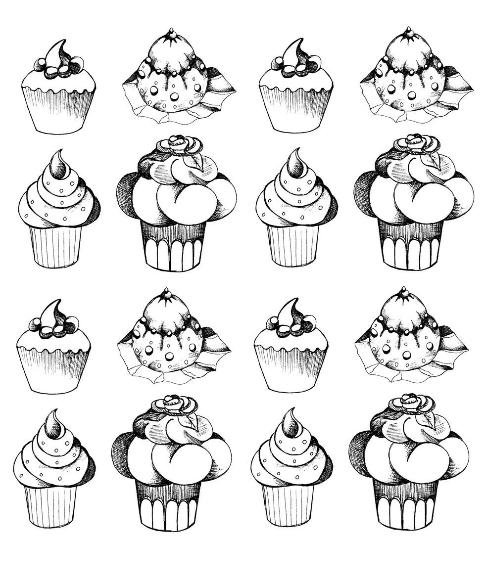 Coloring pages cupcakes - 7 Coloring Pages You Can Download Right Now