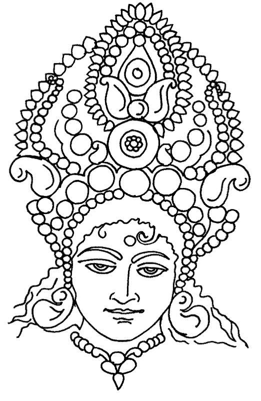 indian coloring pages print out - goddess durga free coloring pages part 4 dot