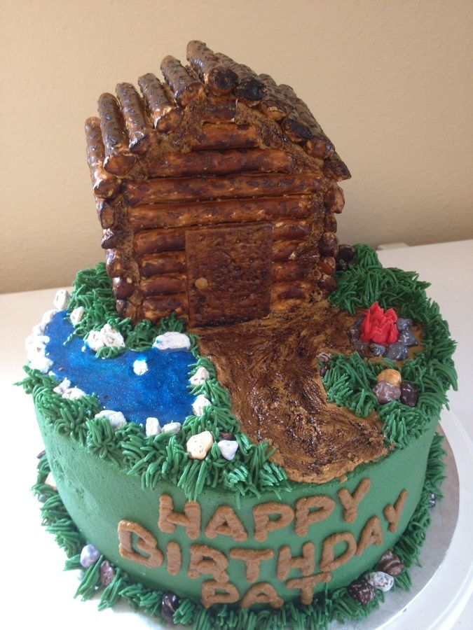 Log Cabin Cake Inspiration For 5 26 14 Mom S 50th Cabin Cake With