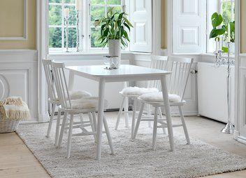Pöytä LANGDAL + 4 tuolia valk. LANGDAL