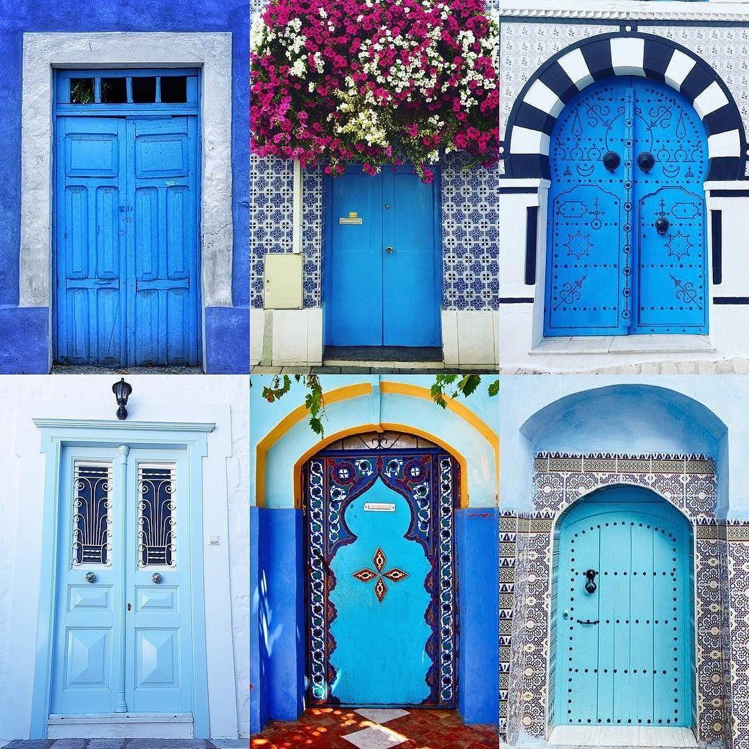 4) Blue  Doors by:  R1C1: @robertod5 R1C2: @pcoolie R2C1: @wanderlust_forlife R2C2: @turistadimestiere R3C1: @i_llove_to_travel R3C2: @stoneandoak_living  Congratulations!  Tag #windowsanddoorsoftheworld to be featured!