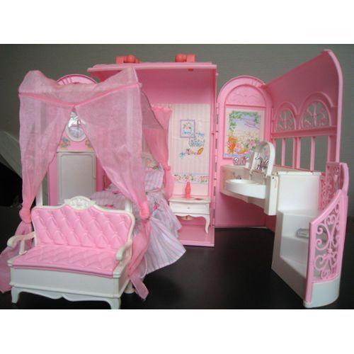 maison barbie malette mattel 1998 la jolie chambre imagination life is your creation. Black Bedroom Furniture Sets. Home Design Ideas