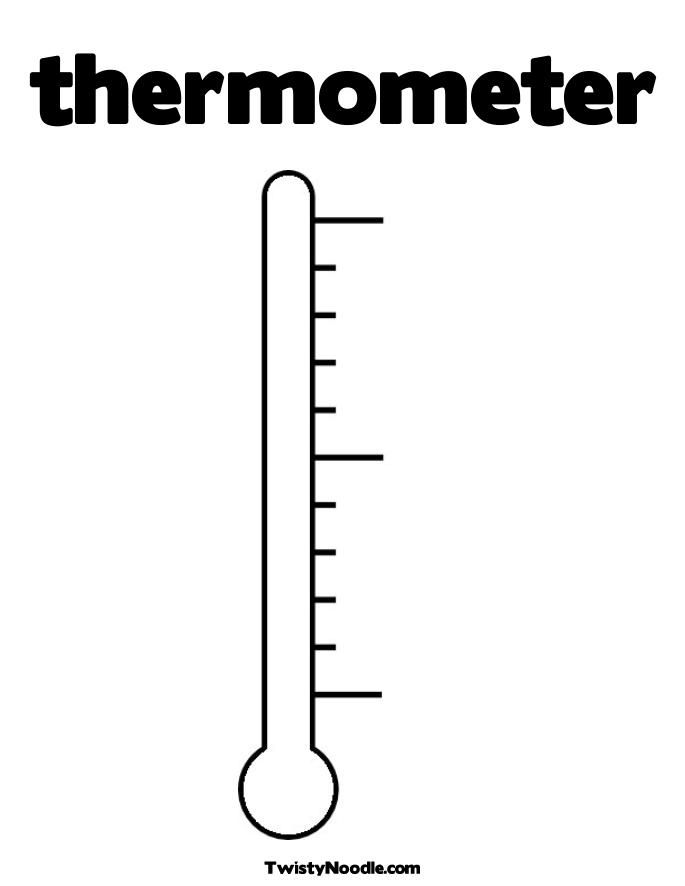 Thermometer Coloring P wiskunde meten Pinterest - thermometer template