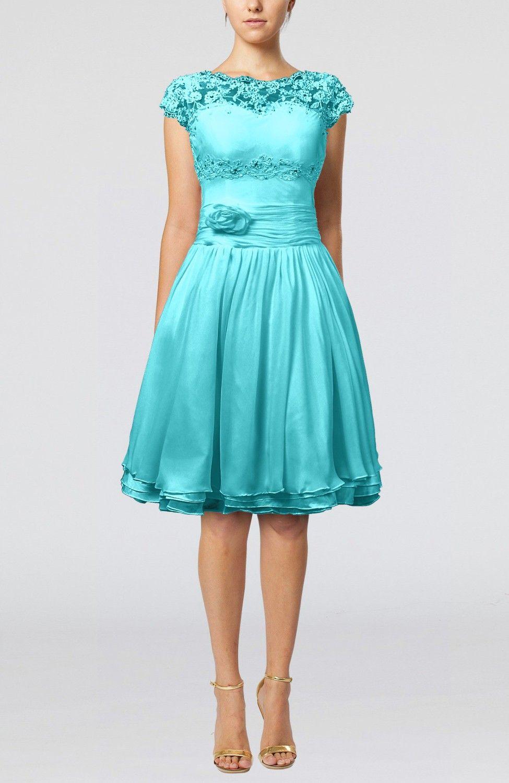 Bright Teal Bridesmaid Dresses Short Sleeveless