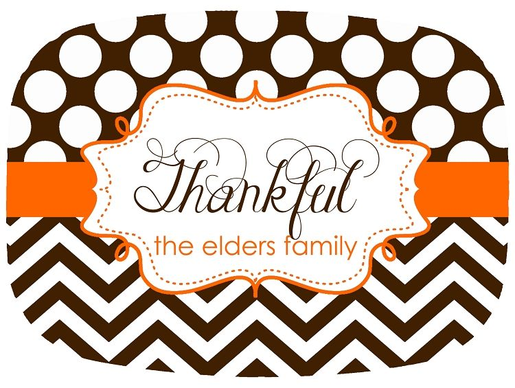 Personalized Thanksgiving Fall Melamine Platter - Thankful