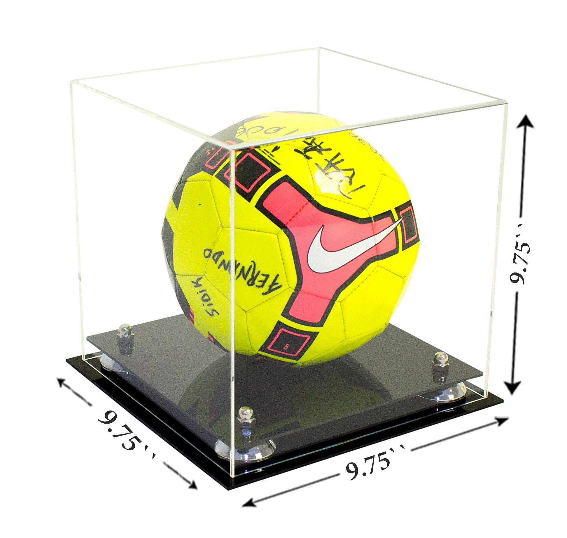 High Quality Clear Acrylic Display Box Memorabilia Cube Comes Fully Assembled Jet Black Acrylic Two Tiered Display Case Clear Acrylic Acrylic Display Box