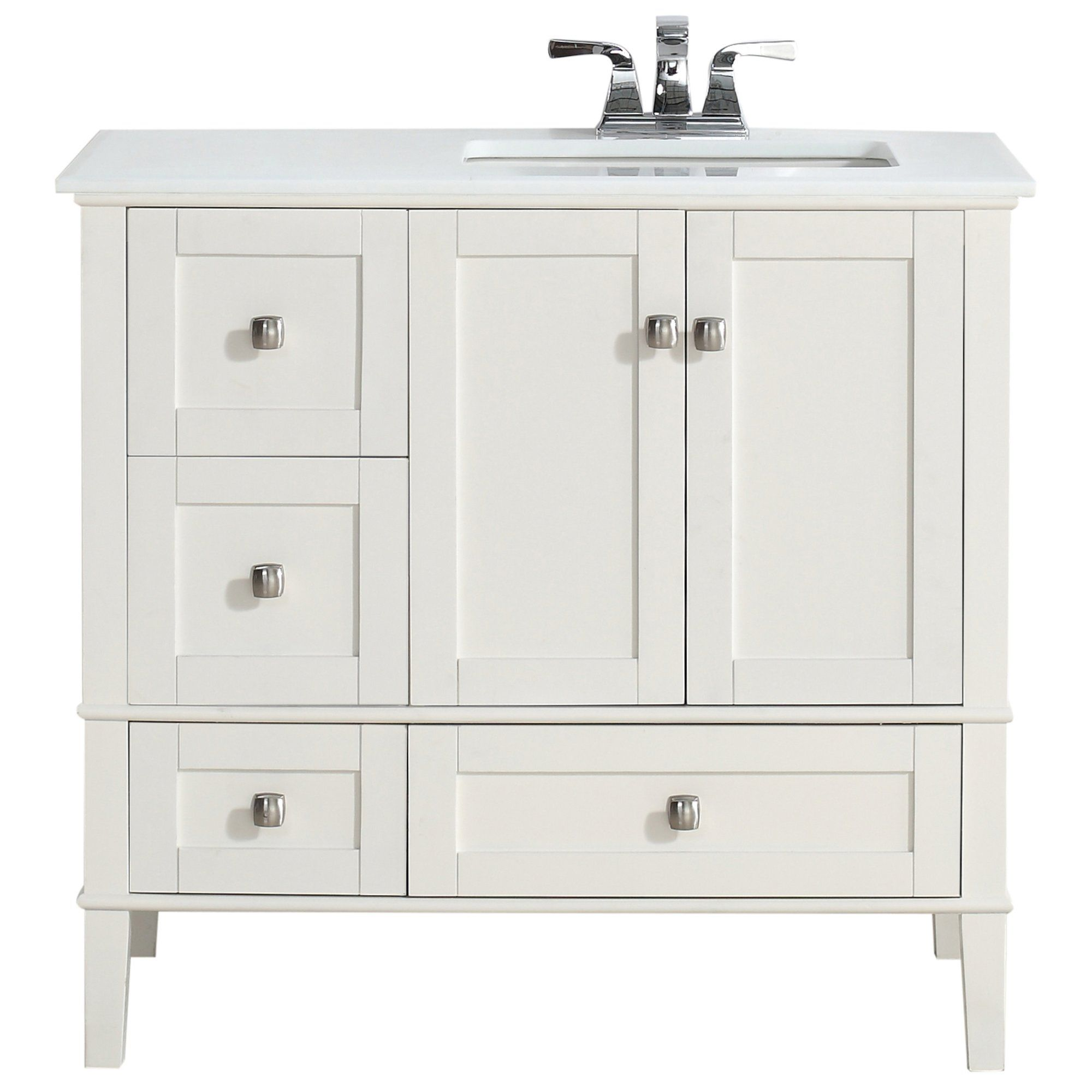 "Chelsea 37"" Single Right Offset Bath Vanity Set"