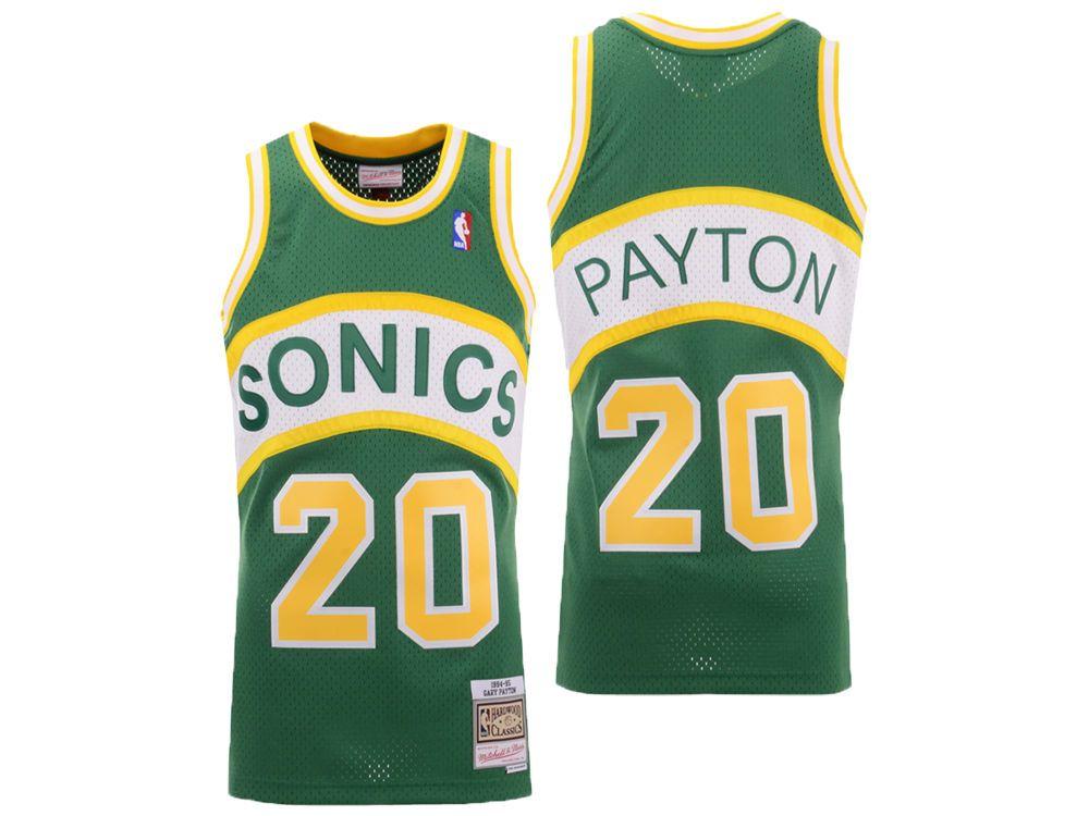 Seattle SuperSonics Gary Payton Mitchell   Ness NBA Men s Hardwood Classic Swingman  Jersey 2b0225a74