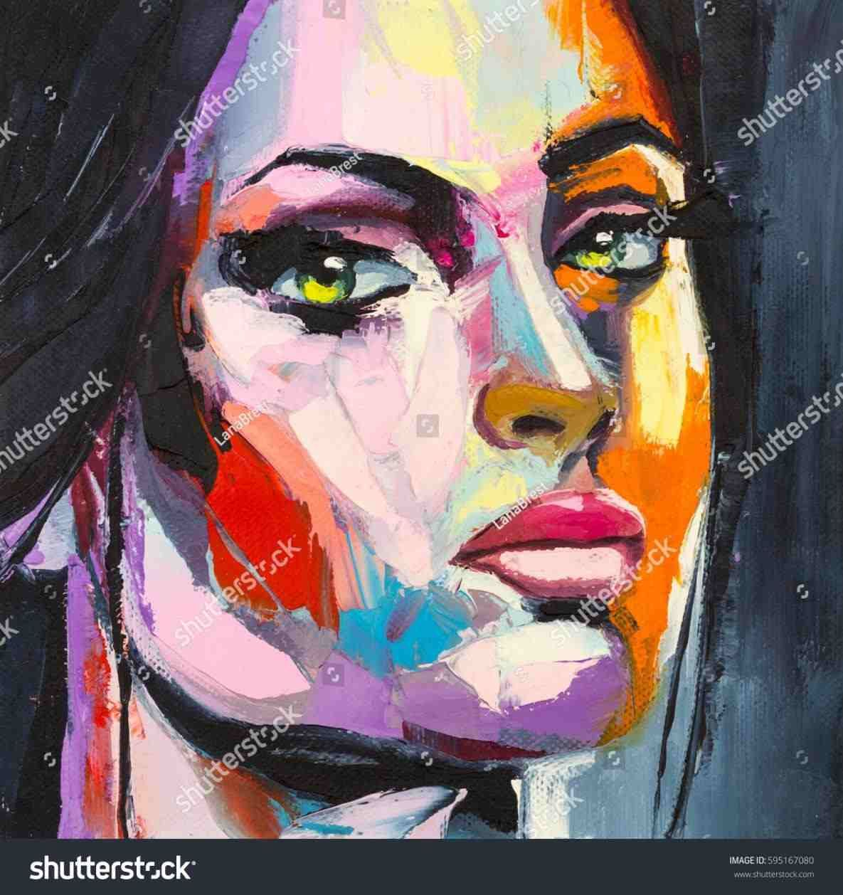 Art Paintings Colorful Painting Oil Painting Portrait Colorful