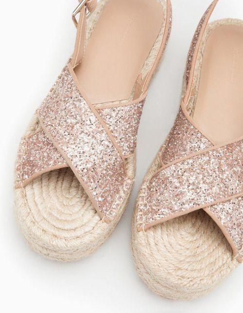 Glitter Pinterest Glam Flatform Zapatos Stradivarius aaFSXq