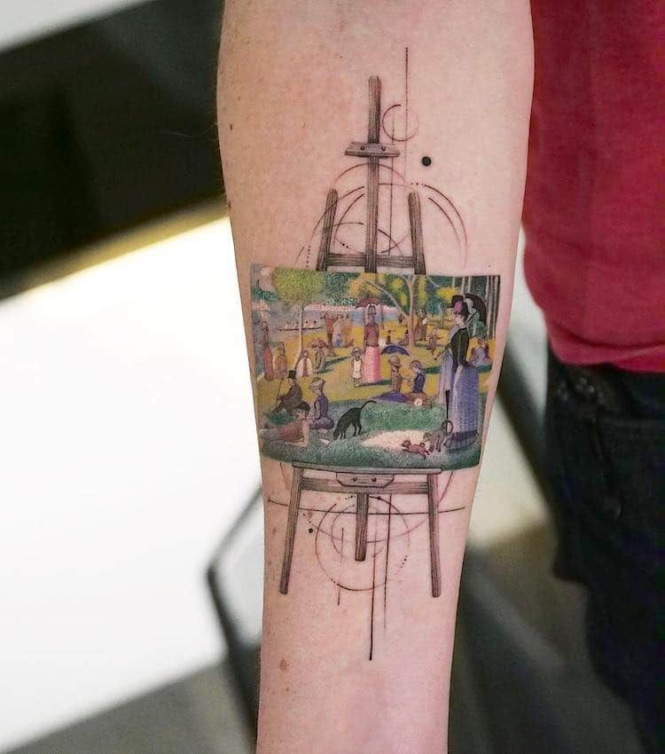 Photo of Tattooist Recreates Art History's Greatest Paintings on the Skin of Her Clients