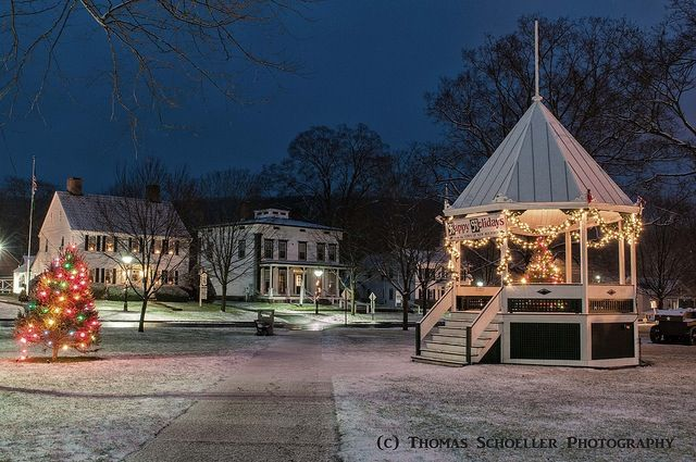 The Gazebo On The Town Green In New Milford Ct New