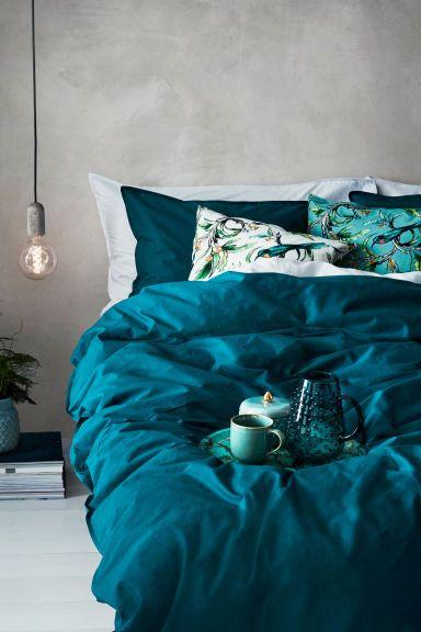 Cotton duvet cover set | Teal bedding, Bedroom makeover ...