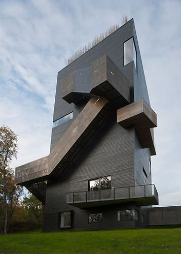 Steven Holl Architects \u2014 Knut Hamsun Center Architecture - architecture contemporaine maison individuelle
