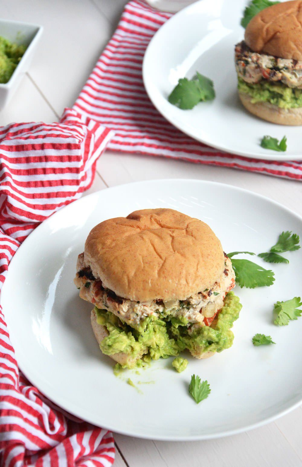 Avocado And Chile Lime Chicken Burgers Recipe With Images