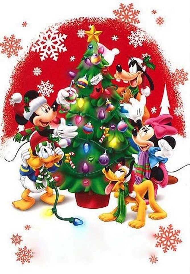 Felicitaciones De Navidad De Disney.Christmas Disney Mickey Minnie Mouse Friends