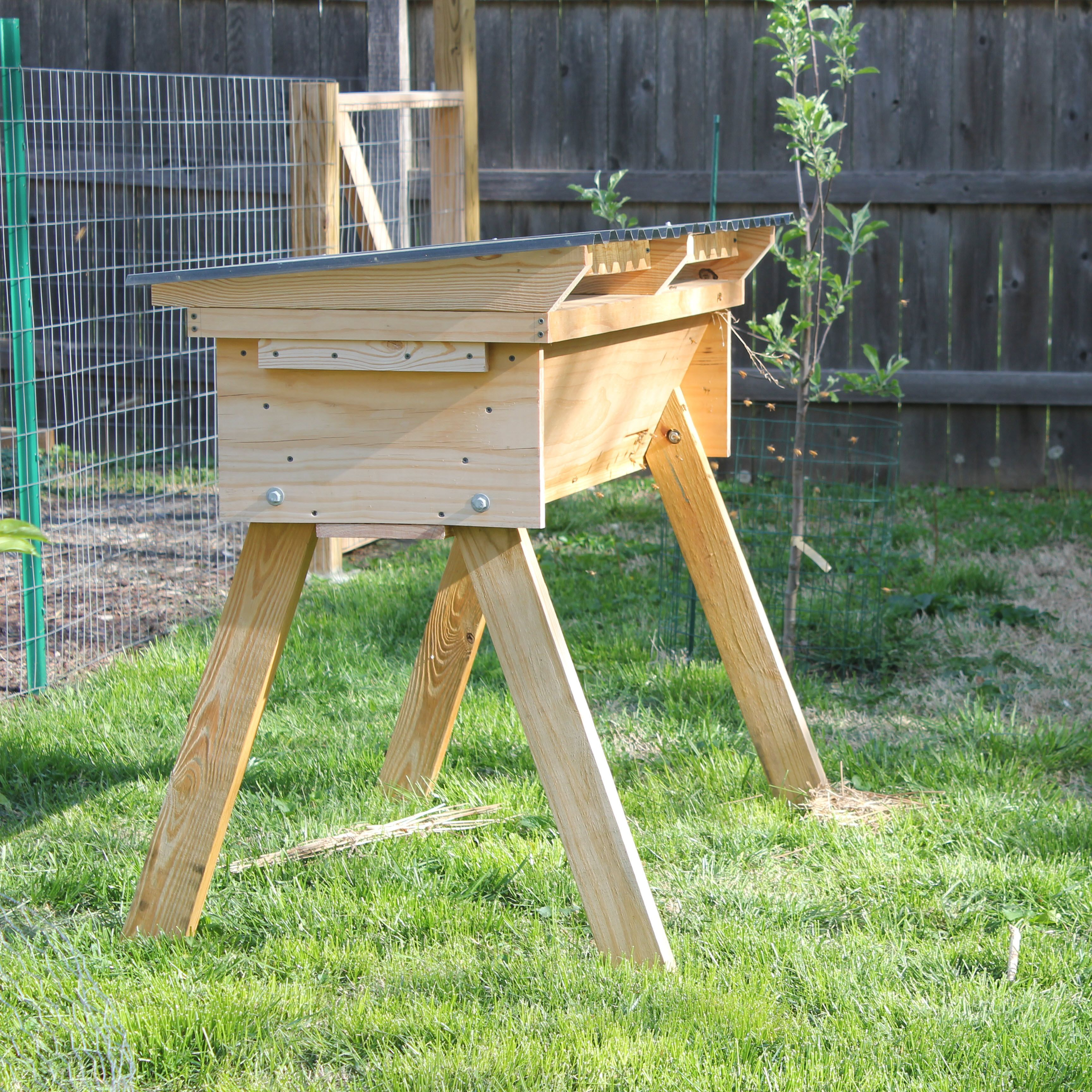 My top-bar hive. Plans by Phil Chandler of http://www ...