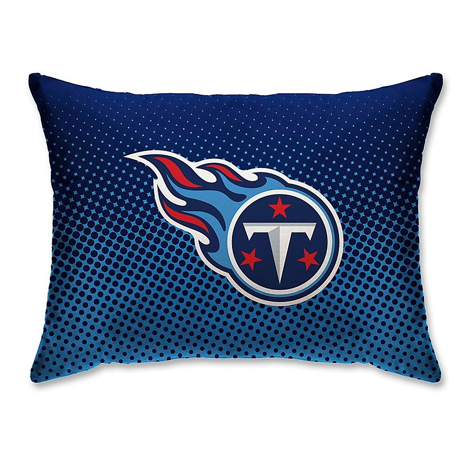 Nfl Tennessee Titans Plush Dot Standard Bed Pillow Sports