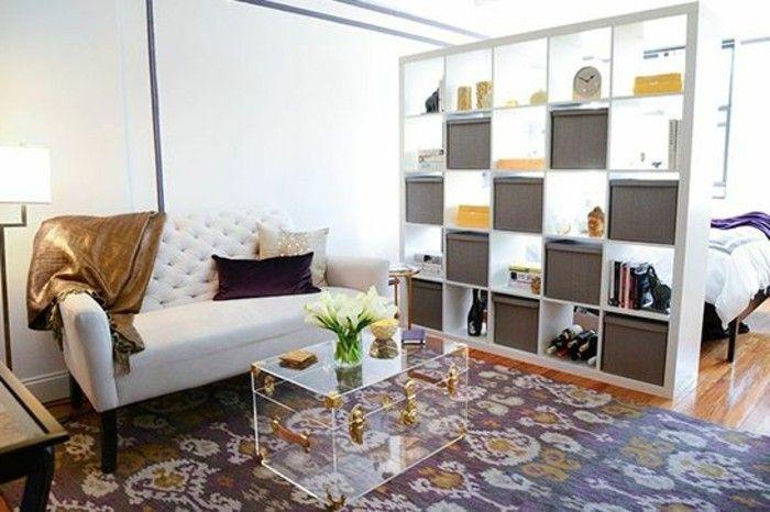 Moderne Ideen zur optischen Trennung durch Regal Raumteiler | Weiße ...