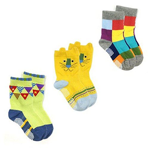 Wrapables Non-Skid Sneakers Baby Socks Set of 3