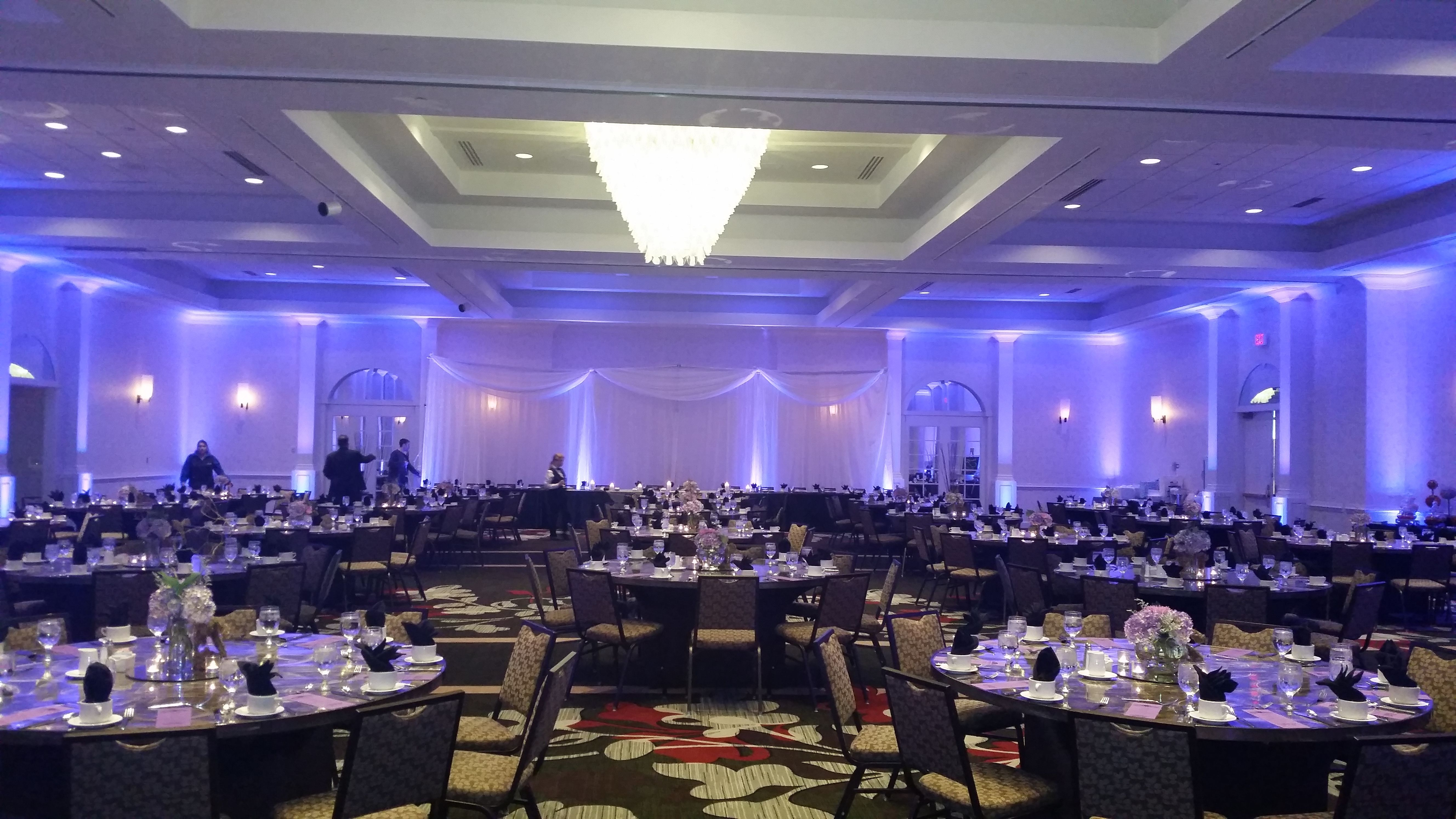 Lighting - it's all about the lighting!!!  What a WOW factor for your guests.