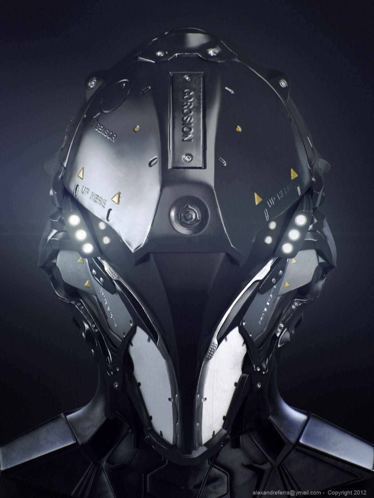 Space helmet picture 3d sci fi robot science fiction for Sci fi decor