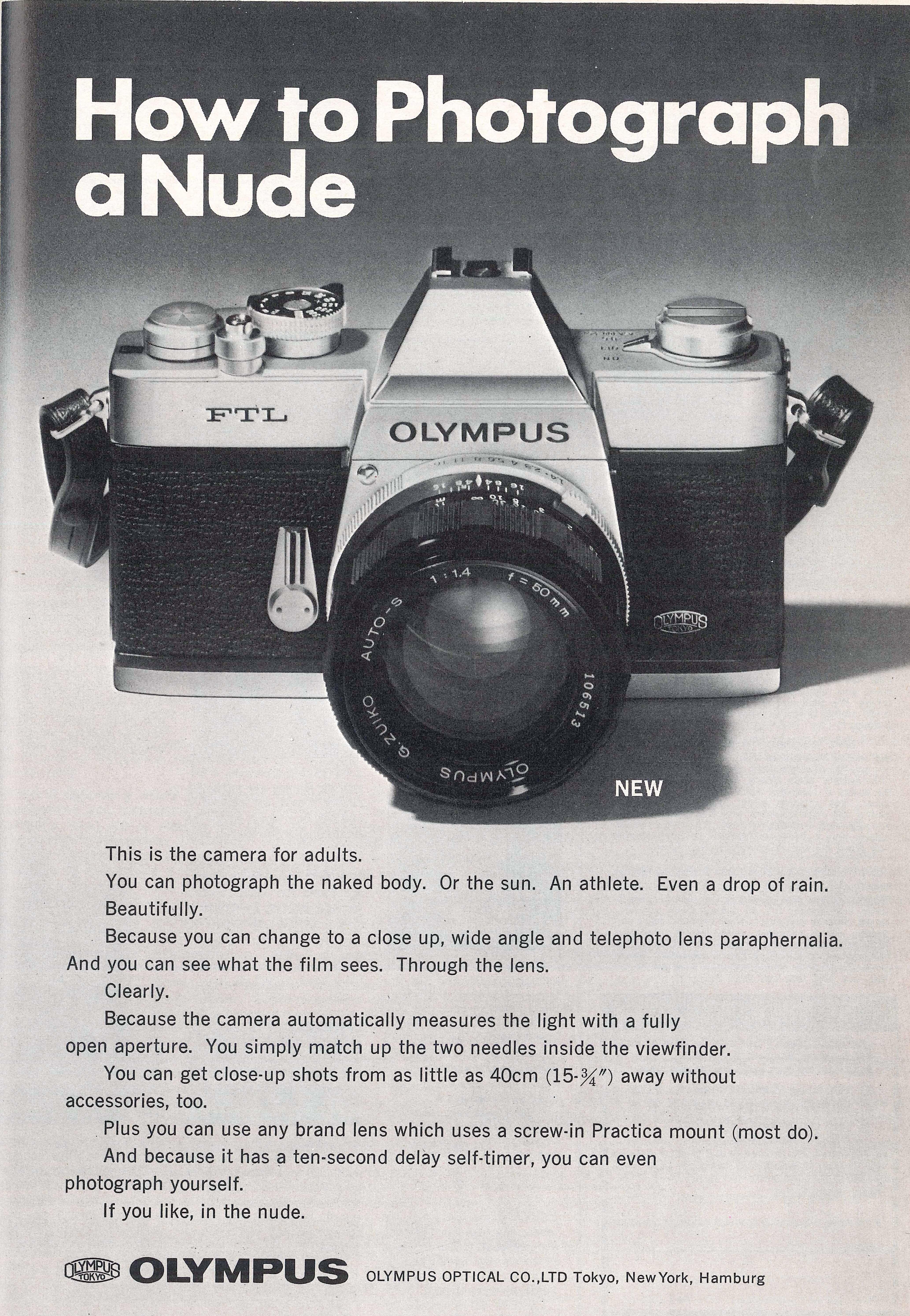 """""""How to photograph a Nude"""" publié dans : Photography Annual 1972."""