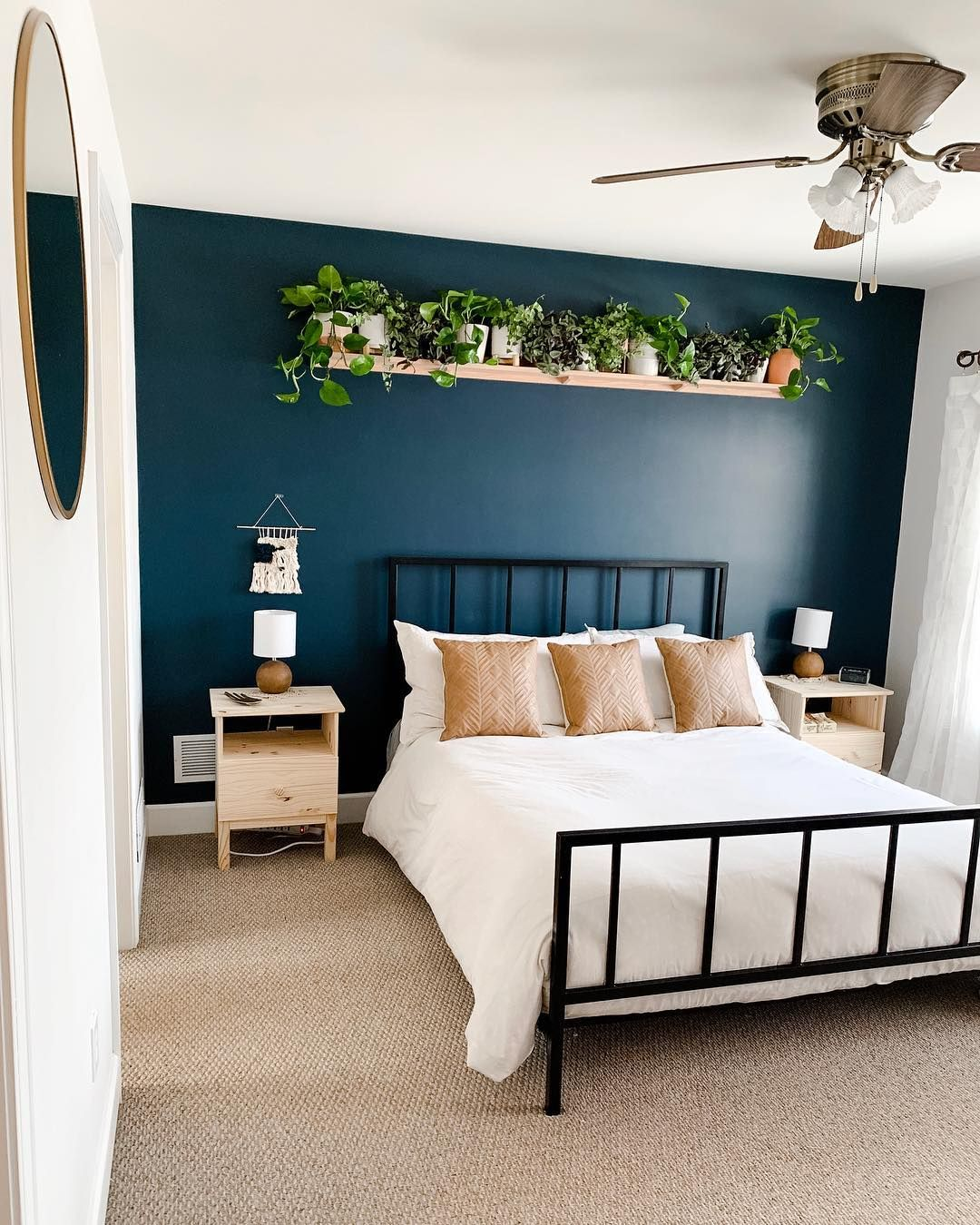 Plain And Simple Accent Walls Are Awesome Morgan Farren Mrs Farren On Instagram Chose Sea Serpe Bedroom Interior Home Decor Bedroom Modern Bedroom Decor