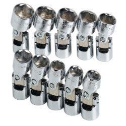 SK HAND TOOL 10 Piece 6 Point Swivel MetricImpact Socket Set SK33351
