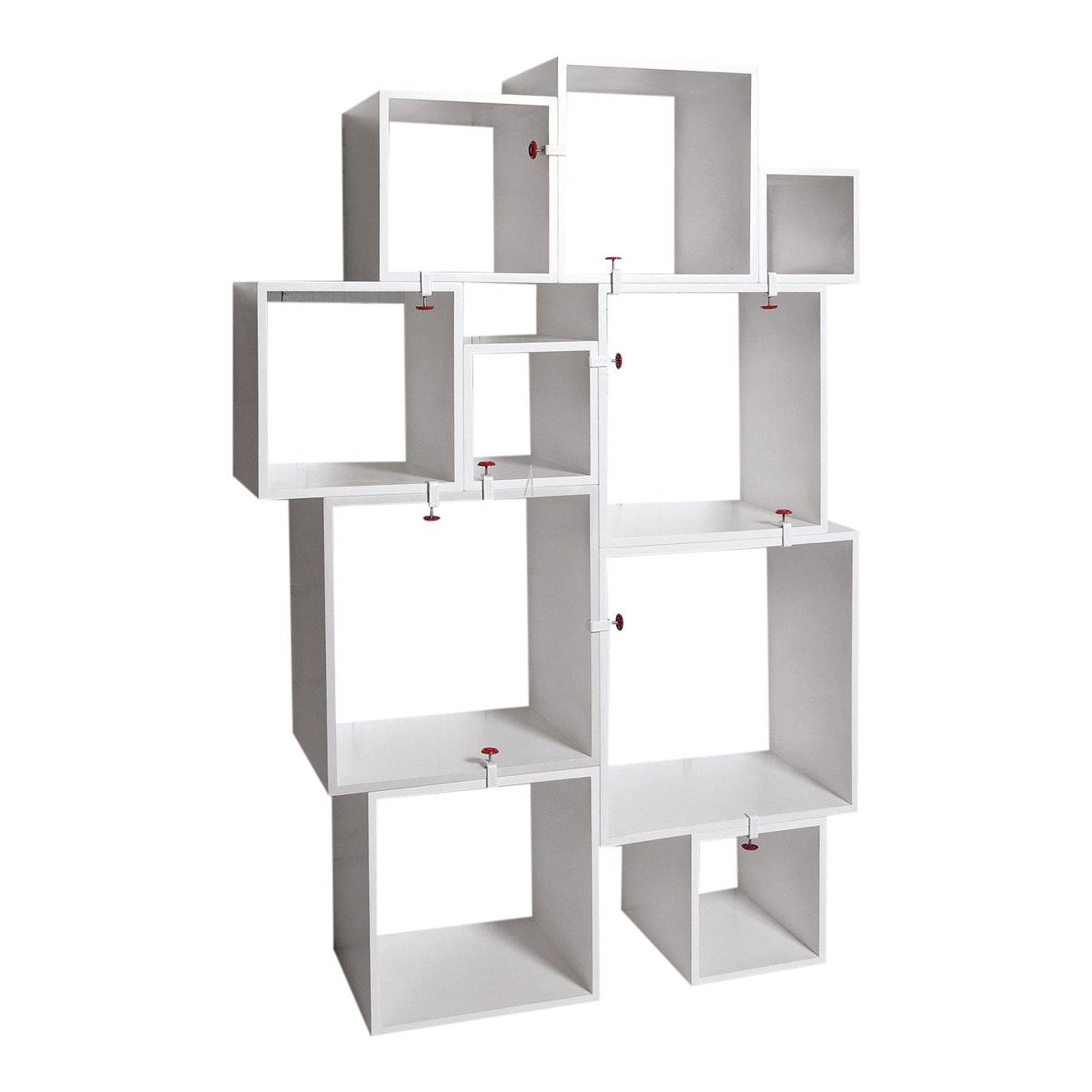 Modern Seletti Assemblage Nesting Modular Bookcase Wall Unit 10 Pieces In 2020 Bookcase Wall Unit Contemporary Shelving Bookcase Wall