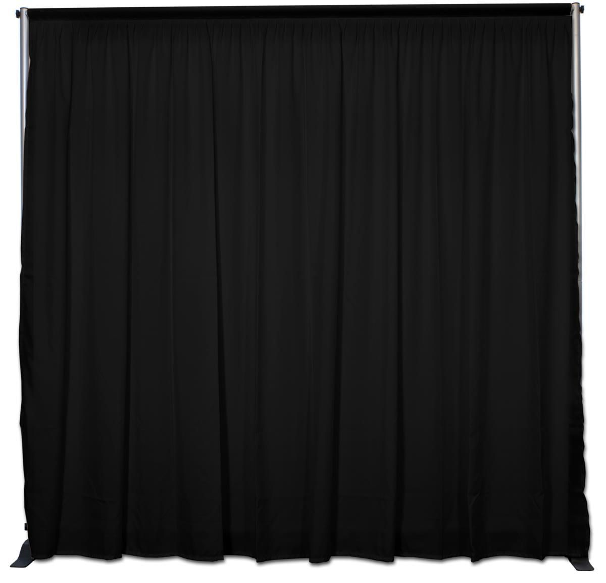 Black theatre curtain - 10 1 5 W Pipe And Drape Trade Show Backdrop Back Wall Black