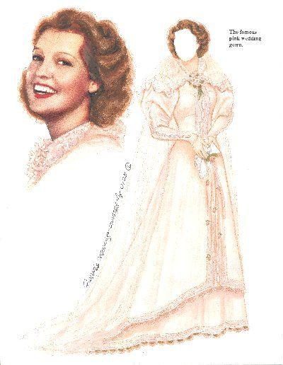 Jeanette MacDonald paper dolls | Jeanette MacDonald's Wedding 1937]